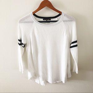 RAG & BONE | White Raglan Sweater Sz Small